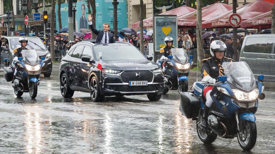 Le DS 7 Crossback d'Emmanuel Macron en détail