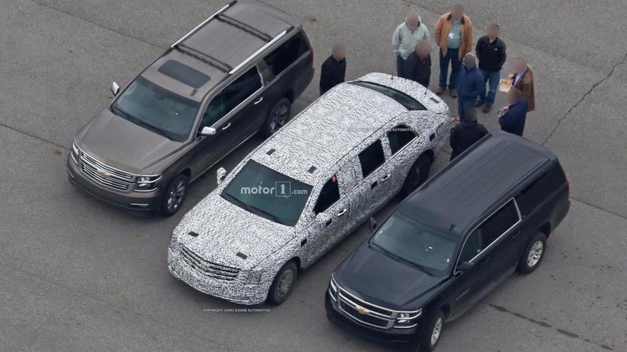 ABD Başkan'ı Trump'ın limuzuni görüntülendi