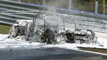 Audi RS8 test mule burned to a crisp