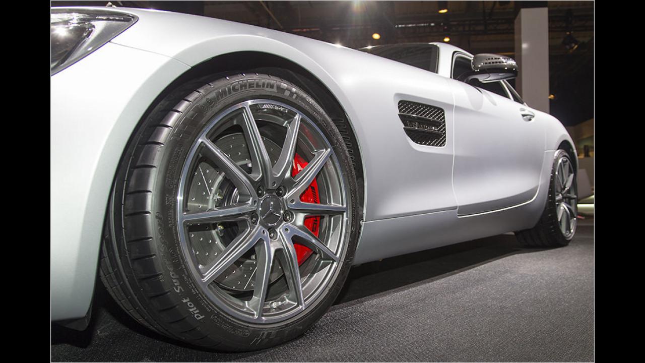 GT S mit größeren Rädern und Bremsen