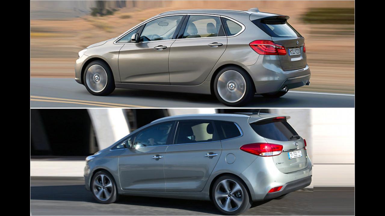 BMW 2er Active Tourer und Kia Carens