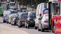 Traffic jam in Britain