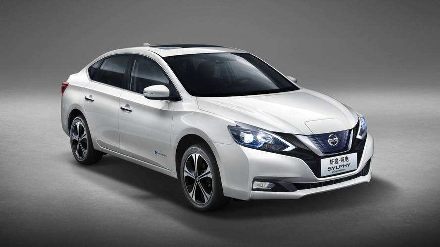 Nissan Sylphy Zero Emission Unveiled As Leaf-Based Electric Sedan