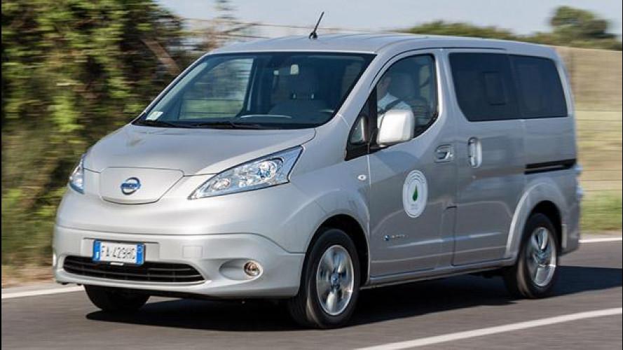 Nissan e-NV200 Evalia, 7 volte elettrico