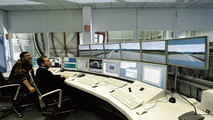 Berlin driving simulator control room