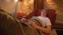 Kimi Raikkonen recuperating at home 20.11.2013