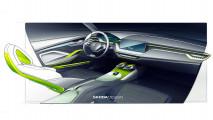 Erdgas-Hybridantrieb im Skoda Vision X