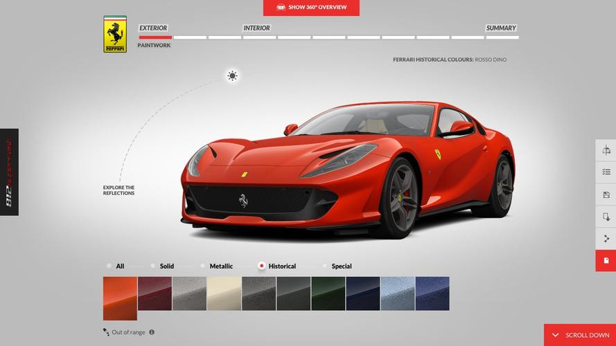 Configurez la Ferrari 812 Superfast de vos rêves !