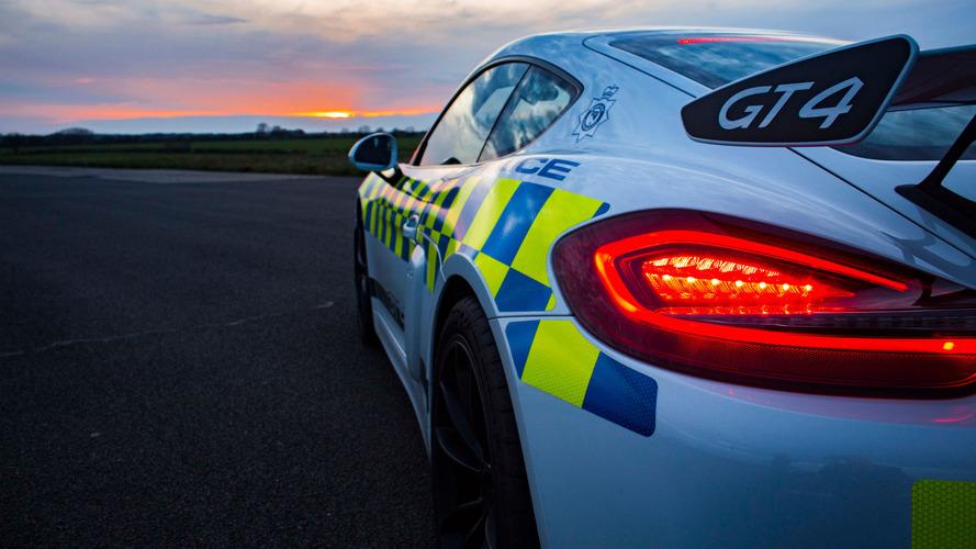 Porsche Cayman GT4 Polis Aracı