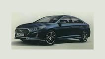 2018 Hyundai Sonata facelift leaked official image