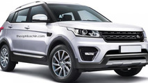 Land Rover entry-level crossover imagined
