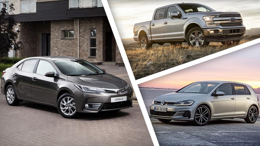 Le 100 auto più vendute del 2017