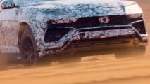 Lamborghini Urus, il video teaser nel deserto