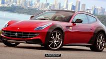 Ferrari FF Cross render
