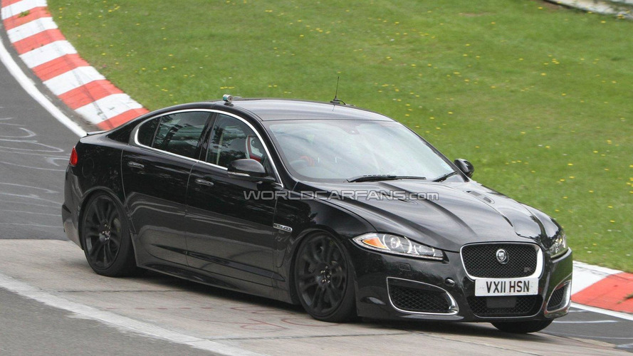 2013 Jaguar XFR-S mule spied for the first time
