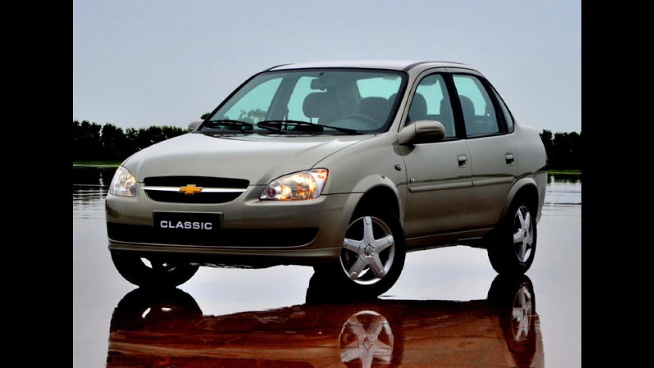 Chevrolet já oferece Classic equipado com duplo airbag e freios ABS em seu site