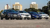 Comparativo Cruze, Corolla, Focus e Sentra