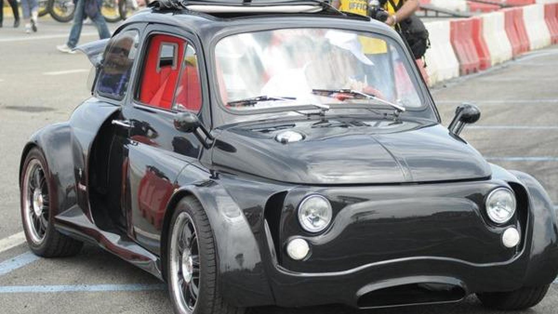 Modified Fiat on Fiat 500 Lamborghini V12