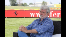 Samuel L. Jackson e George Lucas in visita alla Ferrari