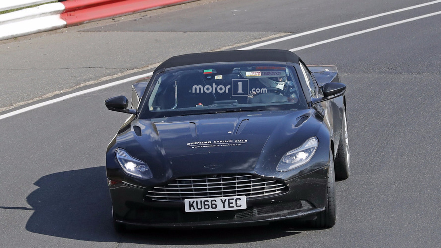 2018 Aston Martin DB11 Unidentified Coupe and DB11 Volante spy photos