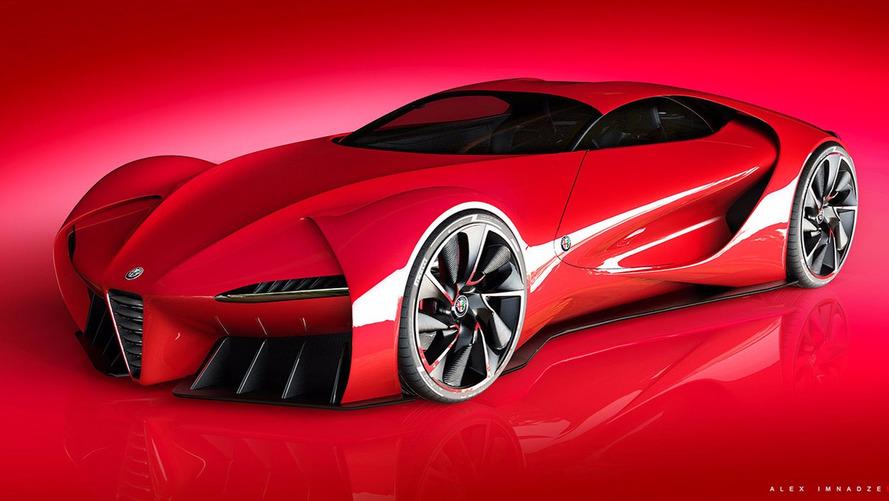 Alfa Romeo 6c Disco Volante - Hélas, ce n'est qu'un dessin...