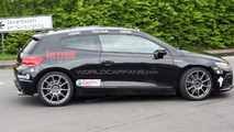 VW Scirocco R20T prototype spy photo at Nurburgring