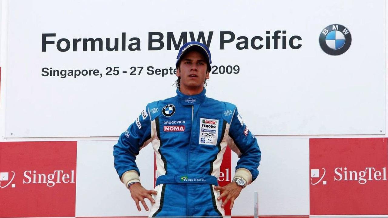Felipe Nasr (BRA), Eurointernational, Singapore, Sunday Podium, 27.09.2009