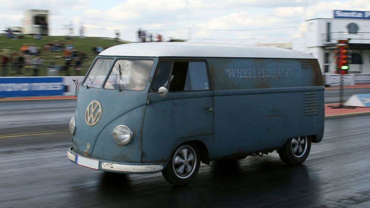 1953 VW Transporter at Santa Pod race track