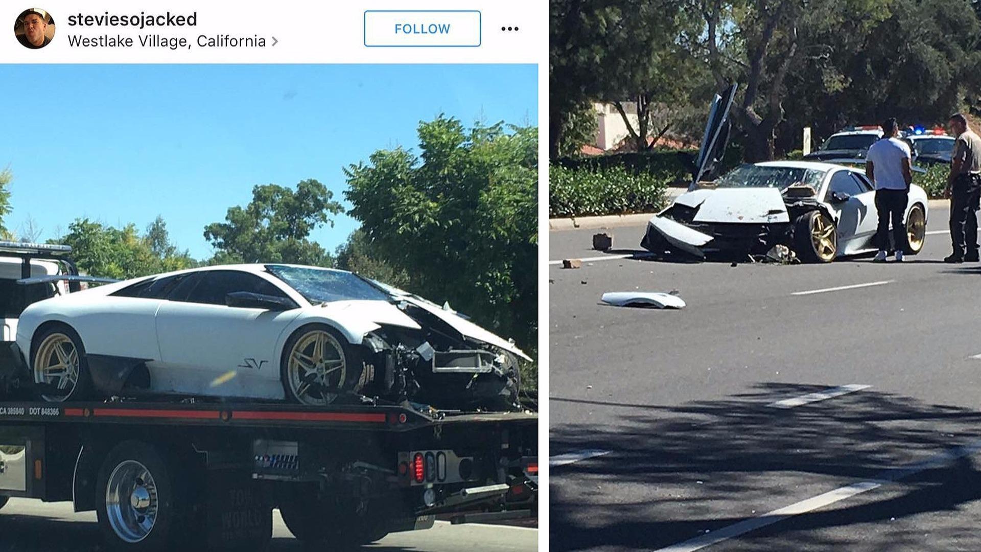 Lamborghini Murcielago Crash Idea Di Immagine Auto