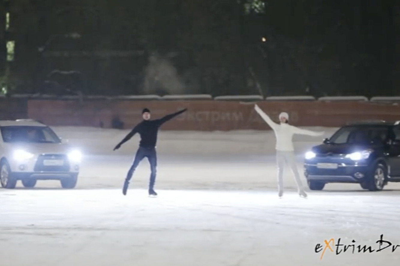 Who Knew? Off-Roaders Are Terrific at Ice-Skating [Video]