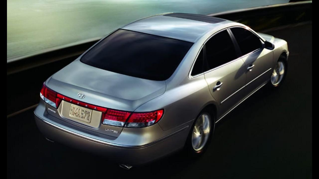 Hyundai Azera: Recall atinge mais de 65 mil unidades nos EUA por problema em airbag