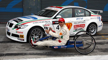 Alessandro Zanardi with special build hand bike, WTCC, Monza, Italy, 07.10.2007