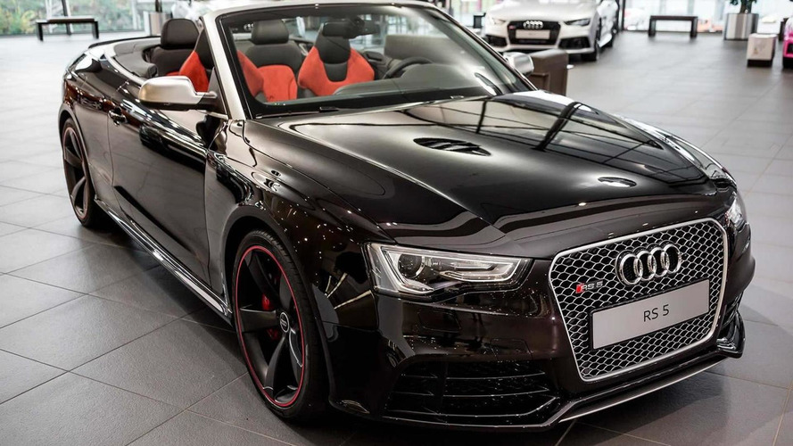 RS5 Cabriolet in Ruby Black metallic pampered with Audi Exclusive goodies