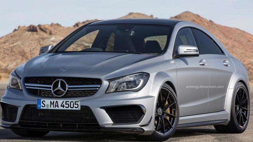 Mercedes CLA45 AMG Black Series gets rendered