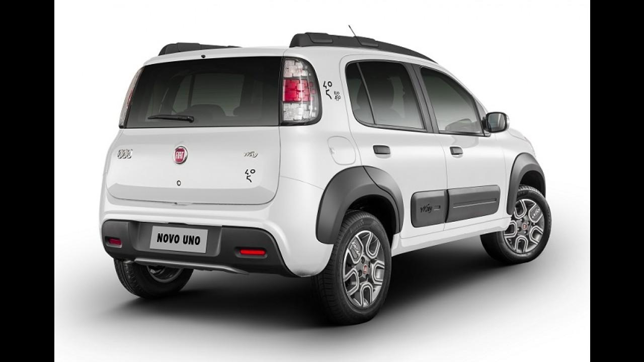 """Fiat Uno Way ganha série especial """"Rio 450"""" por R$ 37.890"""