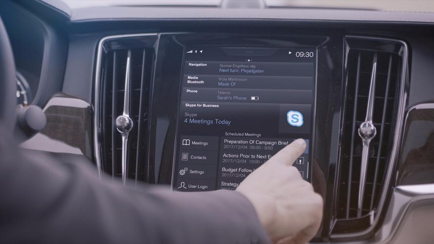 Volvo intègre l'application Skype dans ses voitures