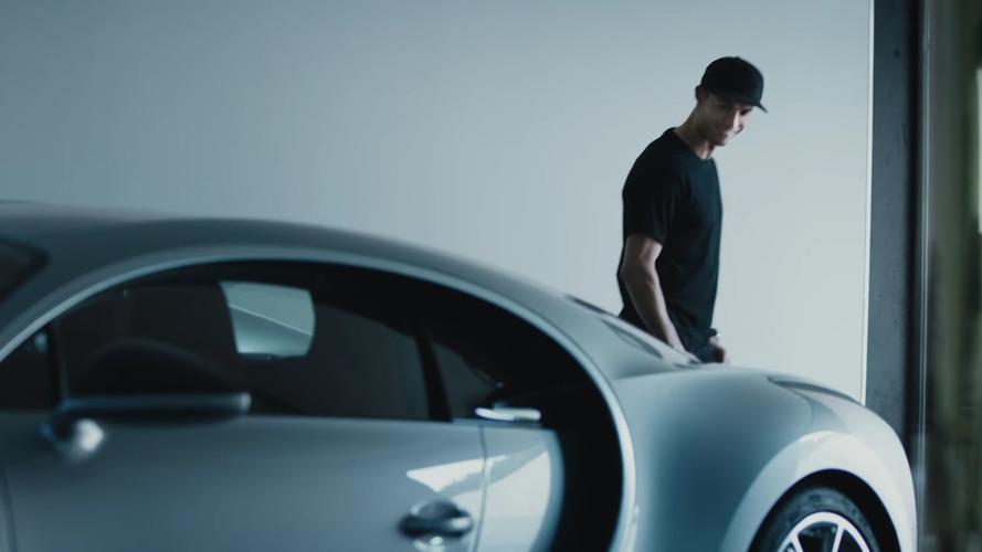 Bugatti Chiron e Cristiano Ronaldo, uma dupla milionária em ação