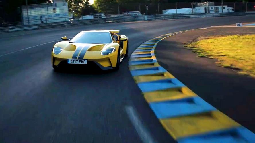 Ken Block, Ford GT'yle Le Mans'da bir tur atıyor