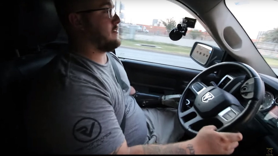 Man with only one arm and no legs loves driving his truck