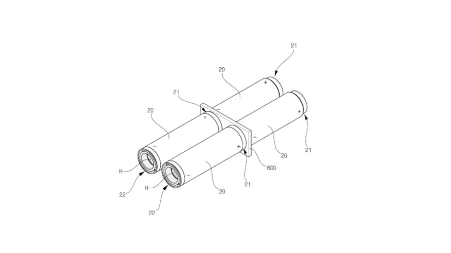 The hollow battery design in the Orange Power patent application