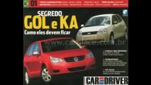 Novo Gol Geração 5 e Novo Ford KA 2008 - Revista Car and Driver mostra projeções dos dois modelos
