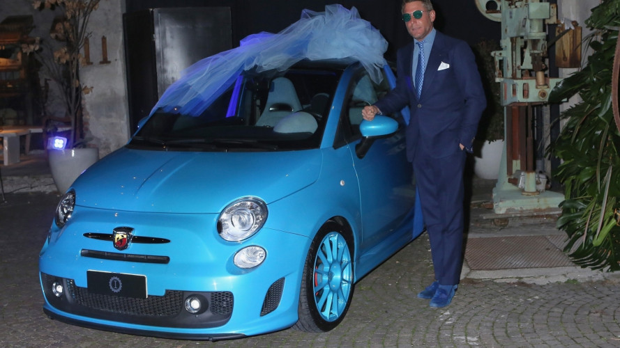 Carlo Cracco, un'Abarth 595 speciale come regalo di matrimonio