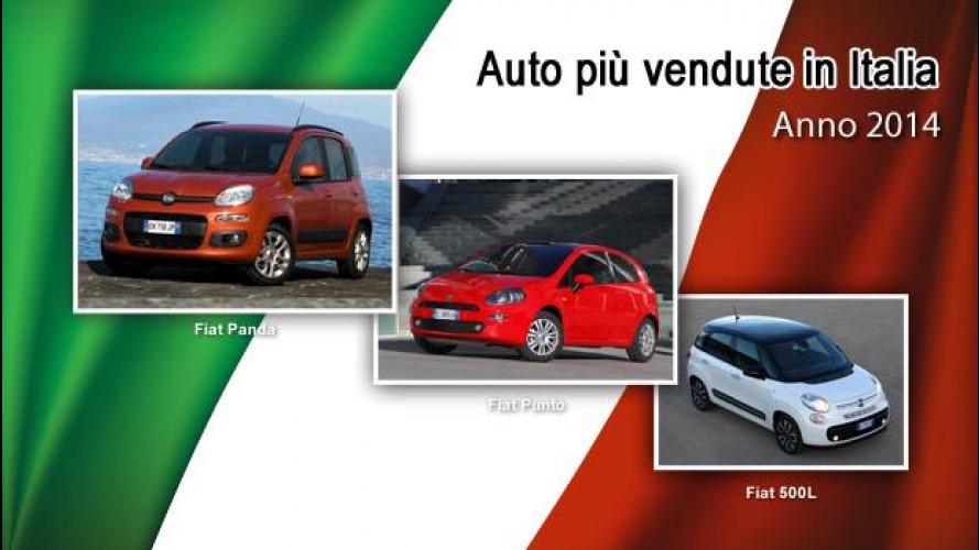 La classifica delle auto più vendute in Italia