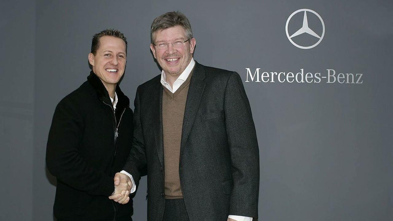 Michael Schumacher, Ross Brawn, Mercedes GP, Brackley, 23.12.2009