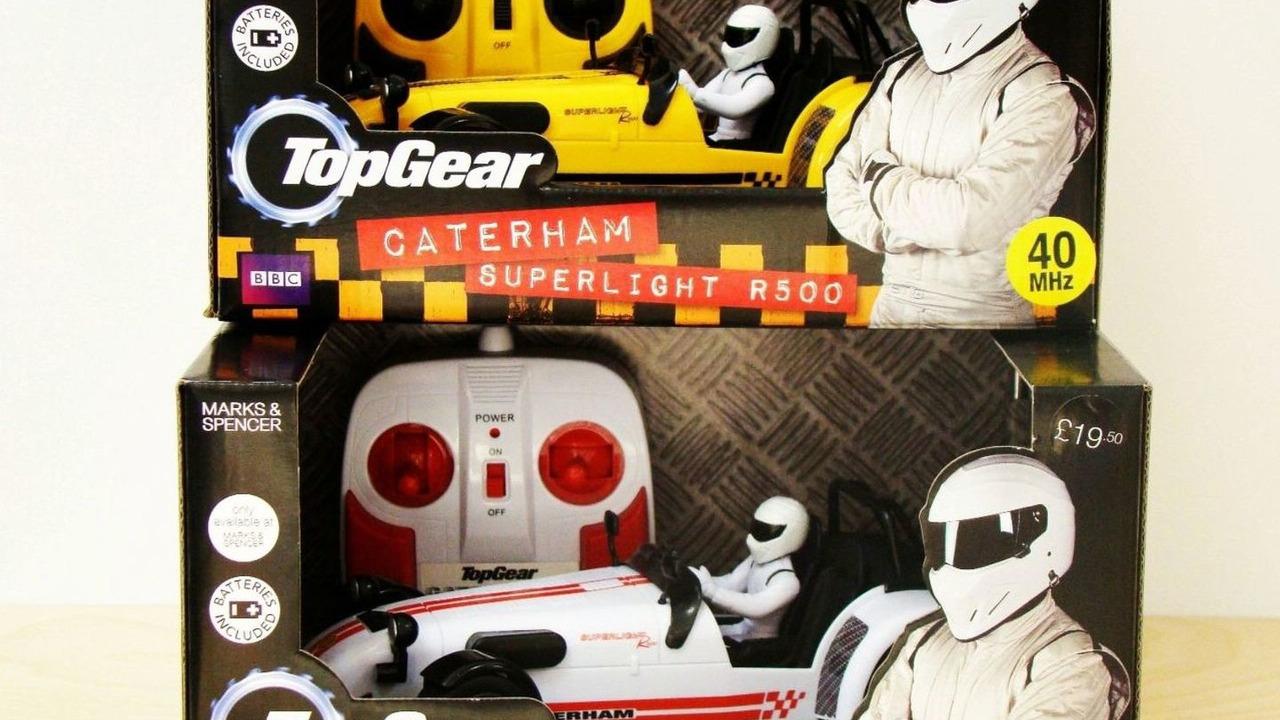 Caterham Superlight R500 scale model with Stig figure