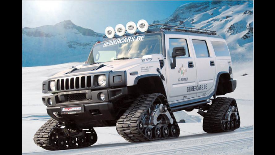 Völlig verrückt: Hummer mit Kettenantrieb von GeigerCars