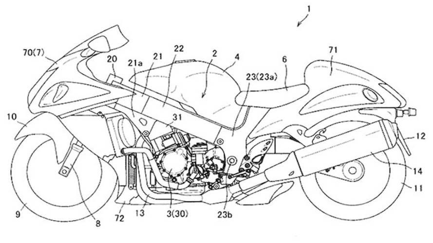 Patent Application Hints At Semi-Auto Gearbox For Suzuki Hayabusa