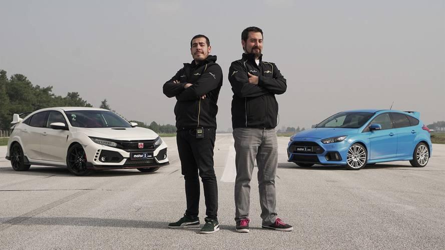 Ford Focus RS ile Honda Civic Type R karşı karşıya!