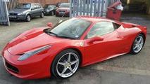 Car washer/detailer wrecks Ferrari 458 Italia