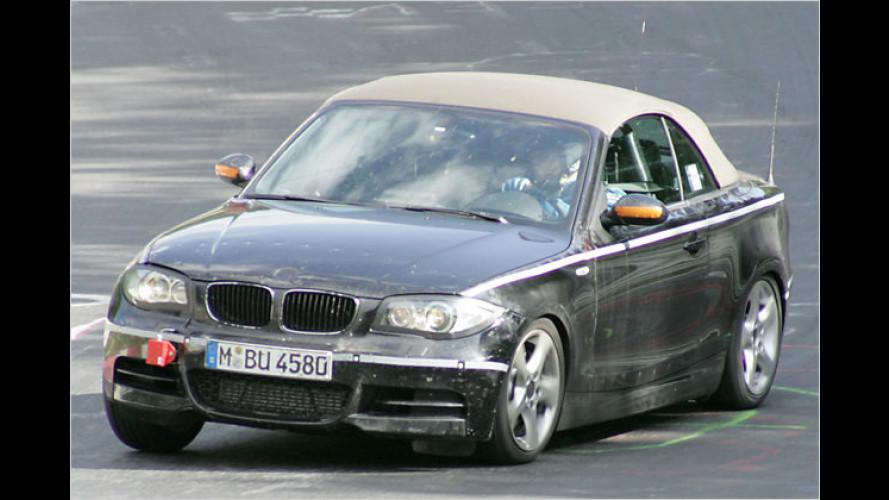 Portrait mit Stoffhaube: BMW 1er Cabrio als Erlkönig